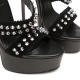 Giaro Galana black sandals with suede straps and studs