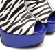 Giaro MARUCKLE peep to ankle boots with zebra pattern