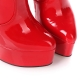 Giaro HERO red shiny gold stiletto platform boots