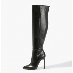 BADURA ELENA exclusive natural leather knee high boots