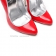 Giaro SLICK ultra red shiny pumps with silver heel