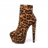 Giaro SELENA Leopard ankle platform boots with chunky heels