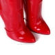Giaro BE BRAVE Red shiny boots with metal heel