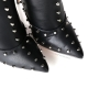 Giaro BLACK EVIL thigh high boots with silver studs