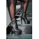 Giaro SCOTT black ankle boots with big bracket and chunky heels