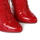 Giaro BRAINBUSTER red shiny boots with metal heel and front lace-up