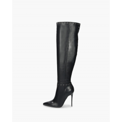 BADURA ELENA natural leather overknee boots with studs