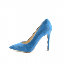 Badura blue welour classic pumps