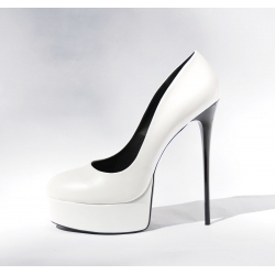 Giaro white classy and fabulous high heel pumps