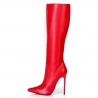 Giaro ZIRA red classic high heel boots