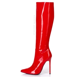 Giaro ZIRA chic red shiny high heel boots