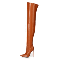 Giaro ZAZU Always fashionable brown thigh high boots
