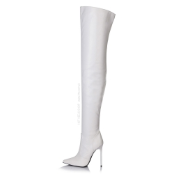 Giaro ZAZU pure white thigh high boots