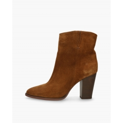 Badura camel leather cowboy ankle boots ORISA