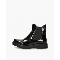 Badura black shiny Casilda ankle boots