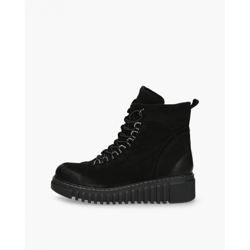 Badura Madissa black lace-up boots