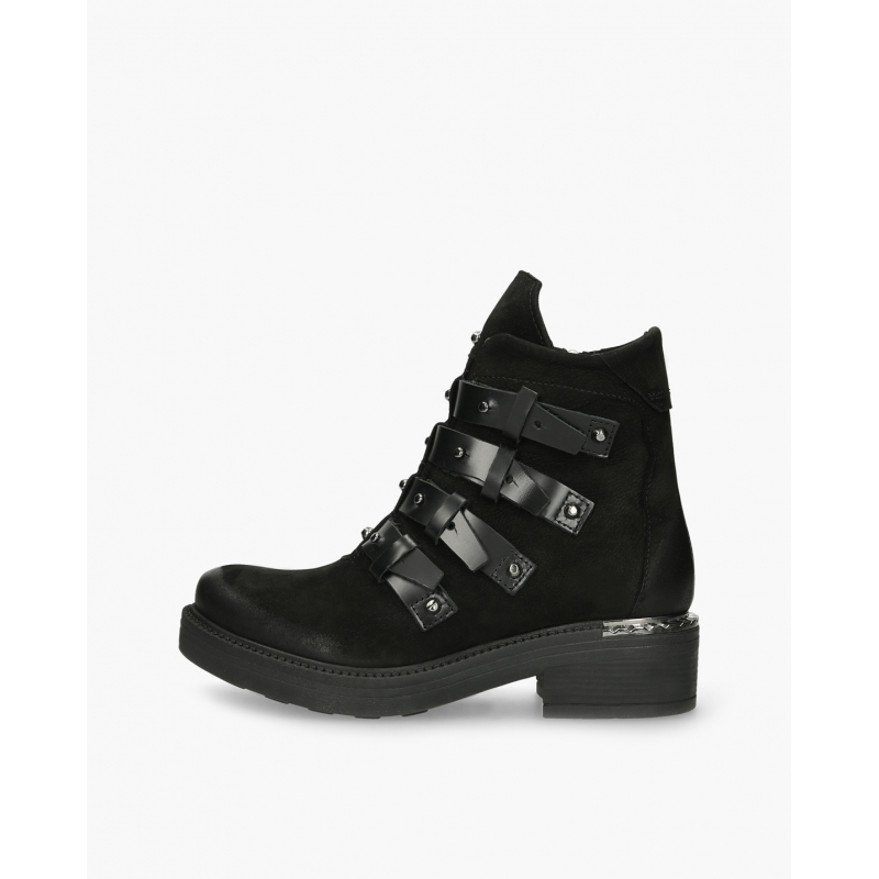 Badura CASILDA black boots with straps