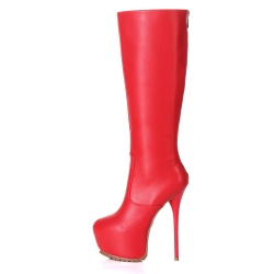 Giaro CAMERON red knee high stiletto boots