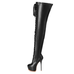 Giaro LUISA overknee boots with satin lacing