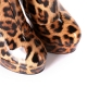Giaro high heeled boots with a leopard pattern