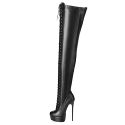 Giaro MOUCHARDE thigh high boots with provocative front lace-up