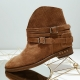 Badura Alegra brown boots with hidden wedge 6 cm