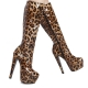Giaro DESTROYER shiny boots with chunku heel and leopard pattern