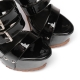 Giaro SIENNA black shiny platform sandals with wide straps