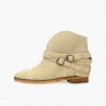 Badura Alegra beige boots with hidden wedge