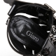 Giaro MULTISSIMA studded high heel sandals with black shiny straps
