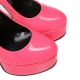 Giaro fuchsia shiny stiletto platform pumps