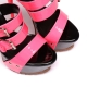 Giaro SIENNA black high heel sandals with pink shiny straps