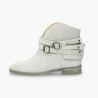 Badura Alegra grey boots with hidden wedge