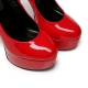 Giaro BAD GIRL red shiny stiletto pumps with silver rivets