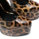 Slick Escala extremely high pumps with leopard skin pattern