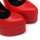 Slick ESSENCE extremely high pumps in red with ankle straps
