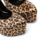 Slick ESSENCE extremely high pumps in leopard's fur with ankle straps