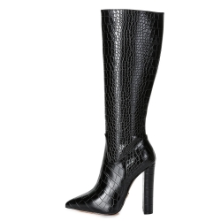 Giaro TAKEN block heel boots crocodile pattern