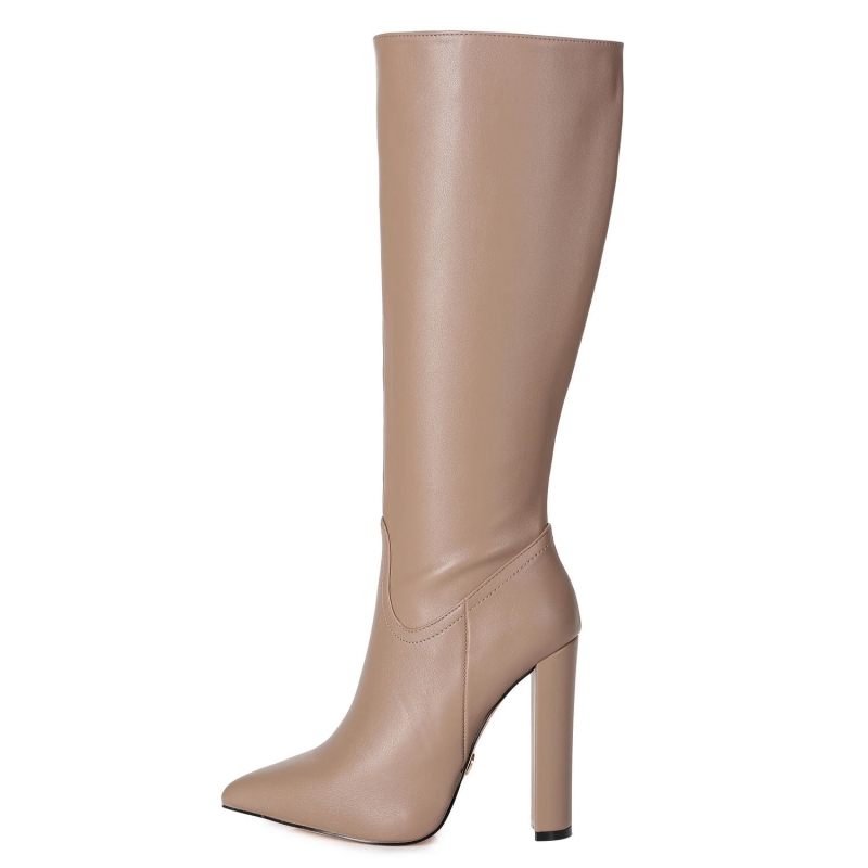 Giaro TAKEN taupe knee high chunky boots