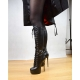 Giaro MAHAUTE platform boots with front lace-up