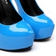 GALANA blu shiny stiletto pumps