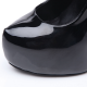 Giaro black shiny stiletto pumps