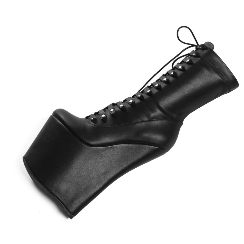 3f91be794f2 Giaro MYSTERY high wedge lace up ankle high boots