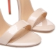 INDO coralle and beige high heel sandals with gold studs