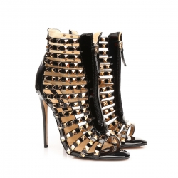 HONDURAS Gold Studded Ankle Boots