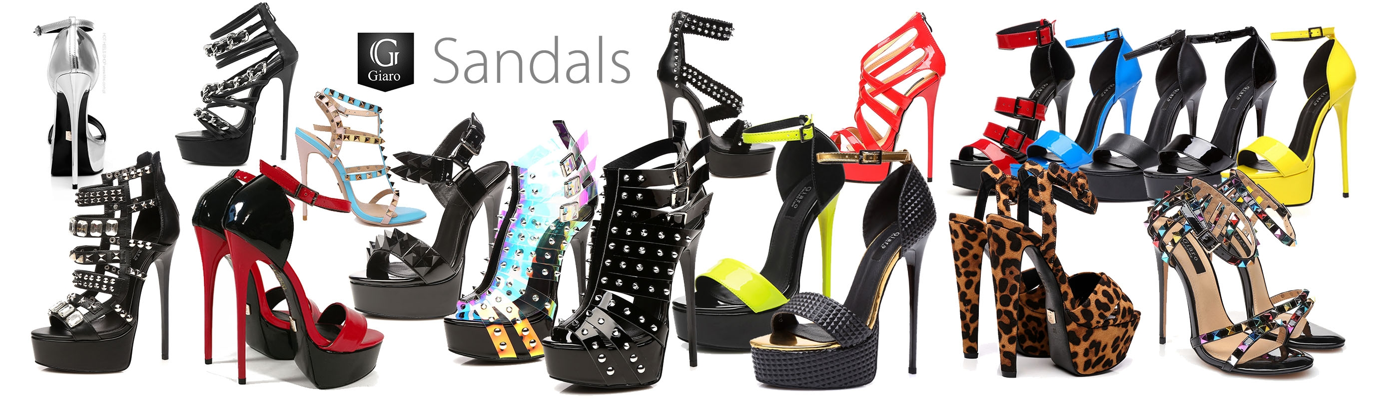 Giaro sandals, more than 50 styles, each kind of heel